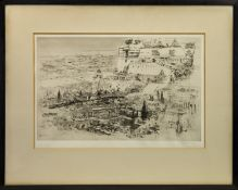 BABYLON, AN ETCHING BY WILLIAM WALCOT