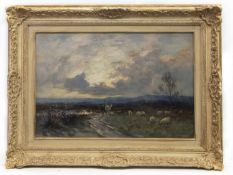 GOING HOME, AN OIL BY JOSEPH MILNE