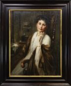 A LADY OF MEANS, AN OIL BY GEORGE HENRY