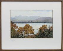 A GILMPSE OF WINDERMERE, A WATERCOLOUR BY DOROTHY SWEET