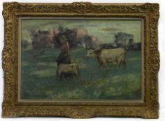 HOMEWARDS, AN OIL BY WILLIAM KENNEDY