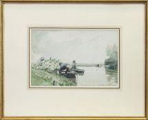 OVERSHIE, ROTTERDAM, A WATERCOLOUR BY JAMES MCBEY