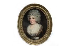 PORTRAIT OF MISS GUNNING, AN OIL BY GEORGE ROMNEY