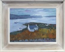 CROFTHOUSE, AN OIL BY WILIAM DRUMMOND BONE