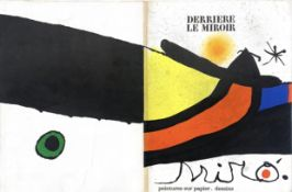VARIOUS EXAMPLES OF DERRIERE LE MIROIR, LITHOGRAPHS BY JOAN MIRO