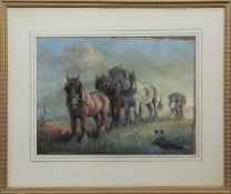 IN THE FIELDS, A PASTEL BY MAUDE MARSHALL