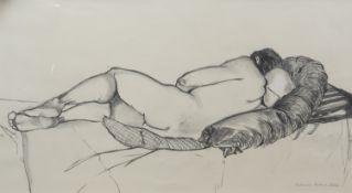 RESTING MAN, A CHARCOAL BY KATHARINA KUBRICK-HOBBS