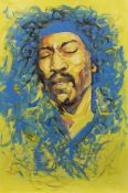 JIMI HENDRIX, AN OIL BY SHAHIN MEMISHI