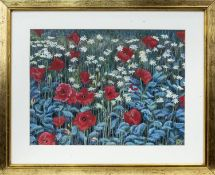 THE POPPY FIELD, A PASTEL BY JAMIE SIMPSON