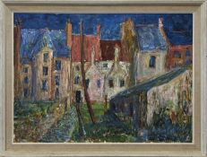 LINLITHGOW, AN OIL BY J V CAMPBELL