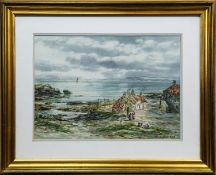 ACROSS THE FIRTH OF FORTH FROM DYSART, A WATERCOLOUR BY JOHN HAMILTON
