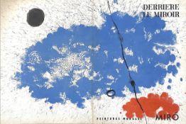 DERRIERE LE MIROIR, PEINTURES MURALES, LITHOGRAPHS BY JOAN MIRO