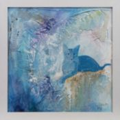 BLUE, GREEK BEAUTY, A MIXED MEDIA BY ALICE BOYLE
