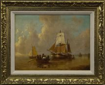 BOATS IN CALM WATERS, A 20TH CENTURY DUTCH OIL