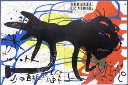 DERRIERE LE MIROIR, A LITHOGRAPH BY JOAN MIRO