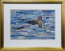 DUCK ON THE WATER, A COLLAGE BY PAUL BARTLETT