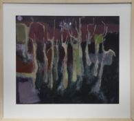 LANDSCAPE WITH TREES, A SCOTTISH MIXED MEDIA