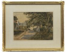 BRAID HOUSE NEAR MORNINGSIDE, A WATERCOLOUR ATTRIBUTED TO SAM BOUGH