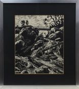 UNTITLED, A WOODBLOCK PRINT BY NAESHEIM