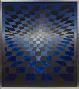 OP ART, A GOUACHE BY ANTOINETTE WIJNBERG