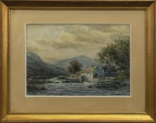 A HIGHLANDSCAPE WITH A WATERMILL, A WATERCOLOUR BY JOHN HAMILTON GLASS