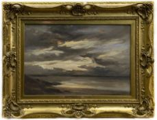 SKIES AFTER A SUNNY DAY, AN OIL BY ROBERT BUCHAN NISBET