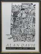 EXHIBITION POSTER, PAINTINGS FROM 1956-1988, A LITHOGRAPH BY ALAN DAVIE