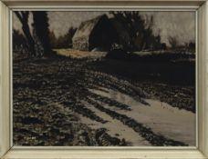 UNTITLED (MUDDY PATH), AN OIL BY WILLIAM TEFLER