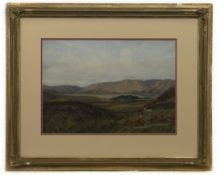 TOWARDS WINDERMERE AND WRAY CASTLE, A WATERCOLOUR BY J MARVIS