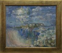 SEASCAPE, AN OIL BY FRIEDA SCOTT
