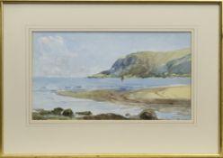 LOCH SCENE, A WATERCOLOUR BY GEORGE WATERS