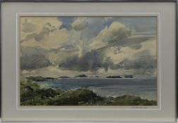 COAST VIEW FROM STOER, A WATERCOLOUR BY RICHARD ALRED