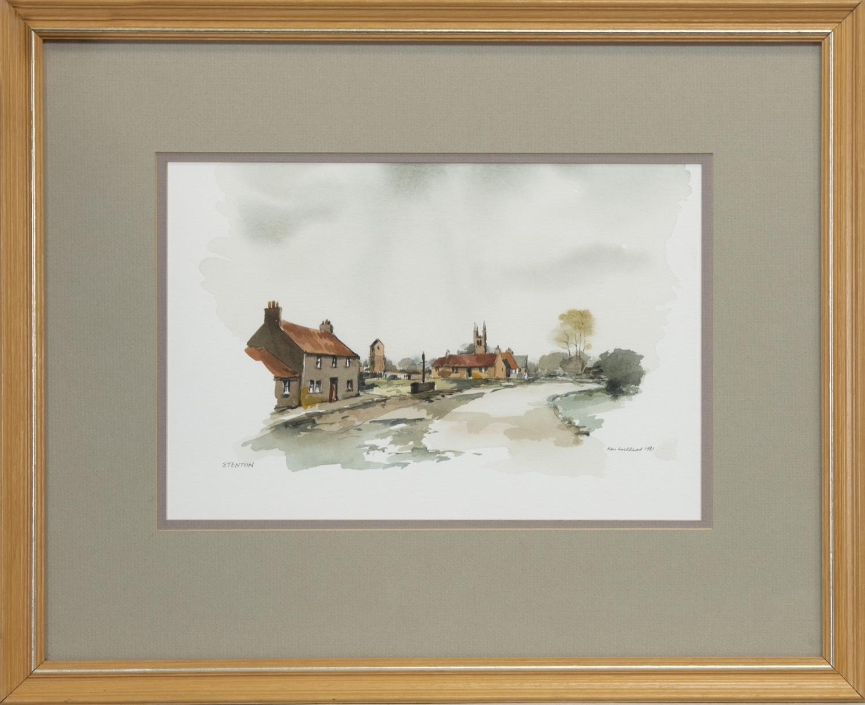 STENTON, A WATERCOLOUR BY KEN LOCHHEAD