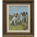 HUNTING DOGS, AN OIL