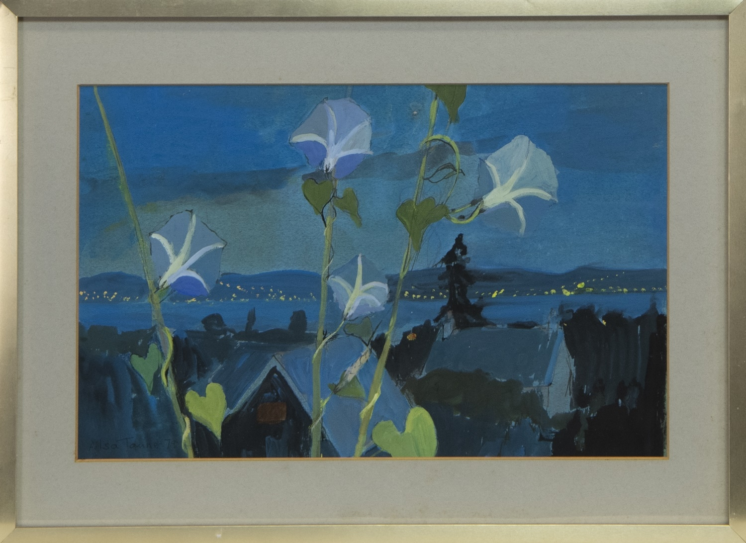 SUMER TWILIGHT, HELENSBURGH, AN OIL BY ALISA TANNER
