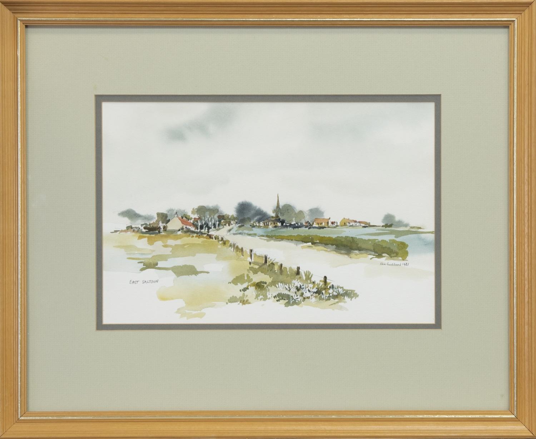 EAST SALTOUN, A WATERCOLOUR BY KEN LOCHHEAD