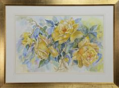 GOLDEN SHOWER, A WATERCOLOUR BY MARGARET A IMRIE