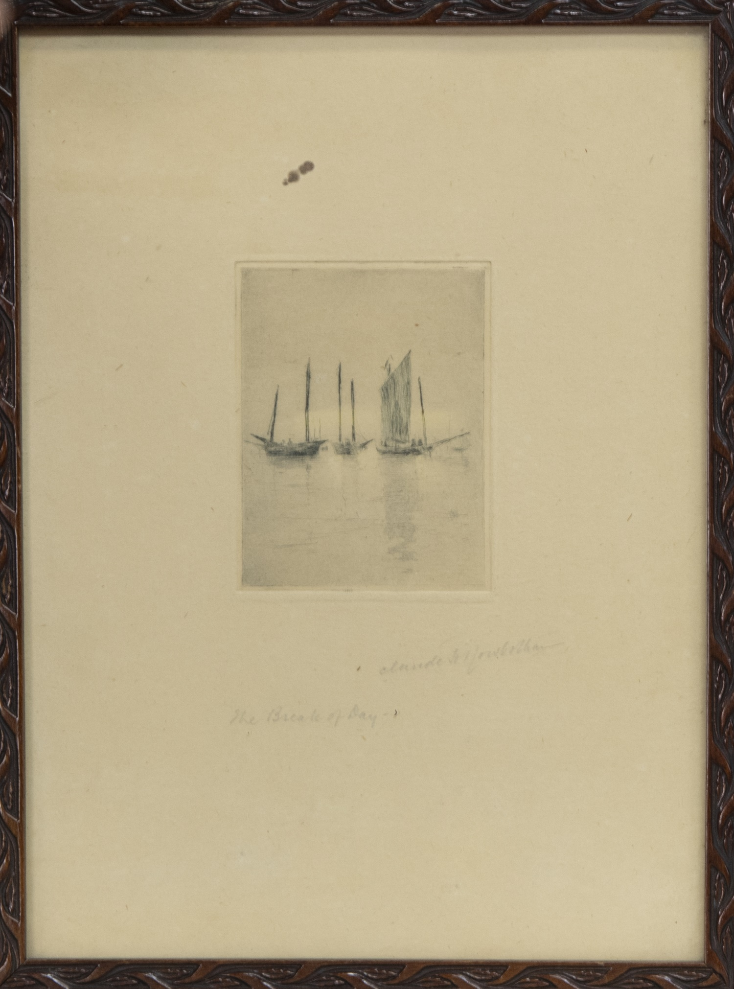 THE BREAK OF DAY, AN ETCHING BY CLAUDE HAMILTON ROWBOTHAM