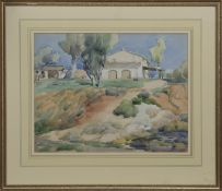 AN UNTITLED WATERCOLOUR BY ANDREW ARCHER GAMELY