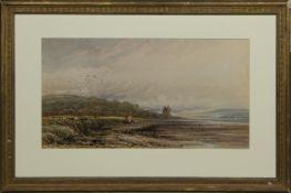 BARNBOUGLE CASTLE, DALMENY, A WATERCOLOUR JAMES ORROCK