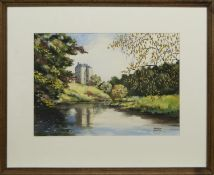 TOWER ON THE BANKS, A MIXED MEDIA BY ANDREW BAXTER