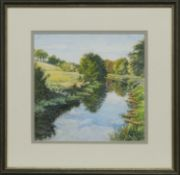 FORTH & CLYDE CANAL, A WATERCOLOUR BY JEAN PENRICE