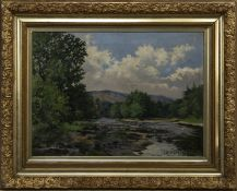 RIVERSCAPE, AN OIL BY I HUMPHREYS