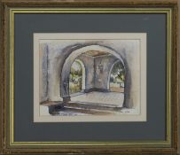 ARCHWAY, A WATERCOLOUR BY MARY HULME