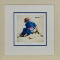 BOY IN BLUE, A PRINT BY LIN PATTULLO