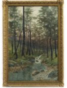 BURN AT SUNSET, A WATERCOLOUR BY A BRYANT