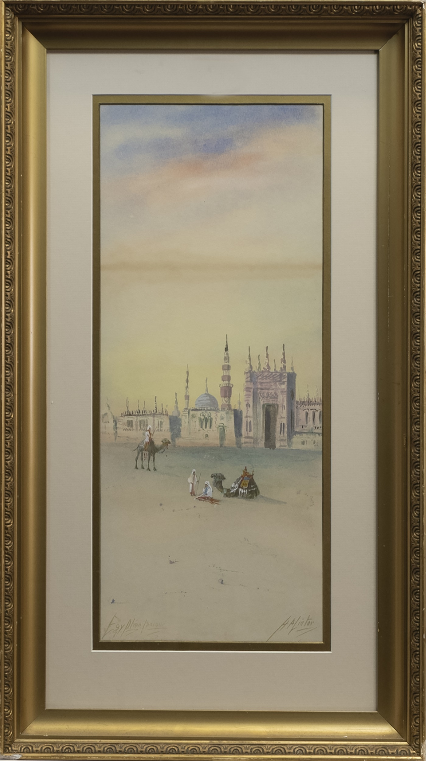 A PAIR OF MIDDLE EASTERN WATERCOLOURS BY H. LINTOR - Image 2 of 2