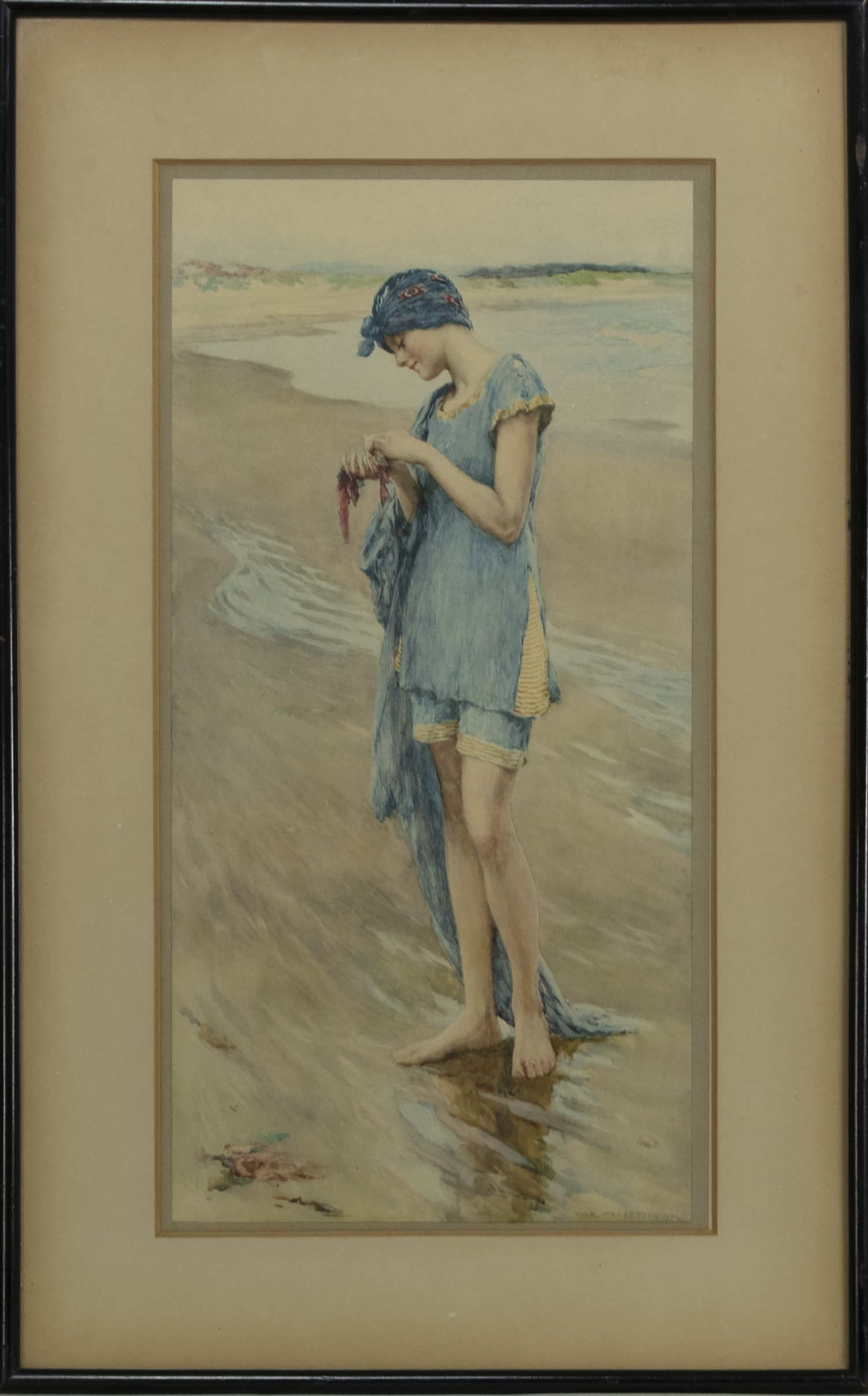 BEACH DAY, A PRINT AFTER WILLLIAM HENRY MARGETSON