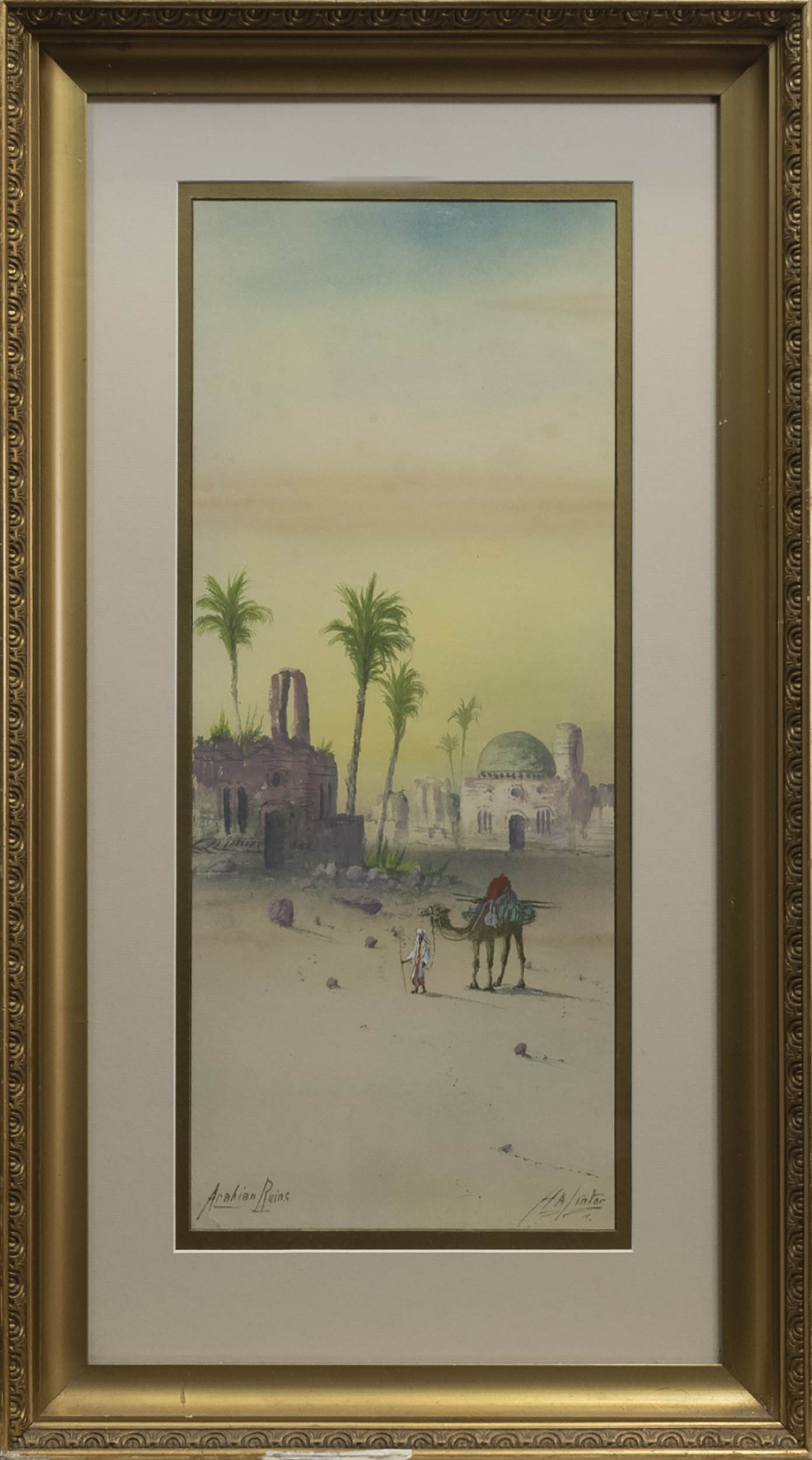 A PAIR OF MIDDLE EASTERN WATERCOLOURS BY H. LINTOR