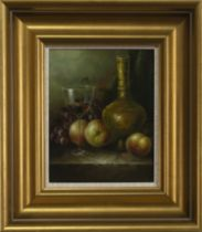 STILL LIFE, AN OIL BY G COLINS